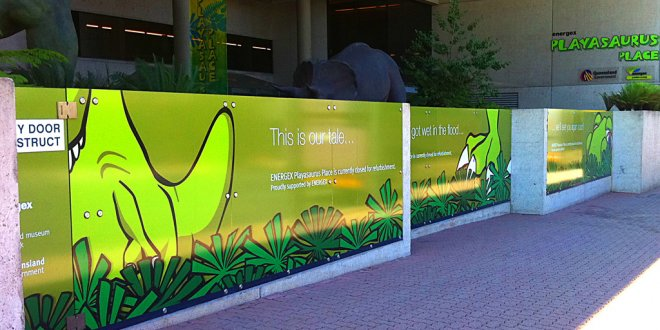 Outdoor large format sign Brisbane city
