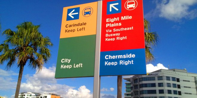 Brisbane City Council Road Signs
