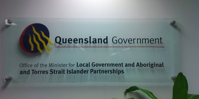 Queensland Government ATSIS Office Signage