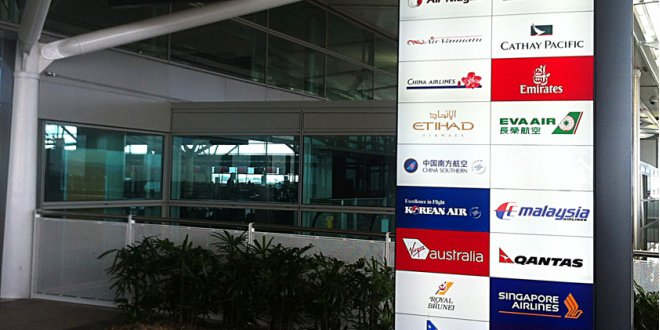 Brisbane International Airport Illuminated Signage